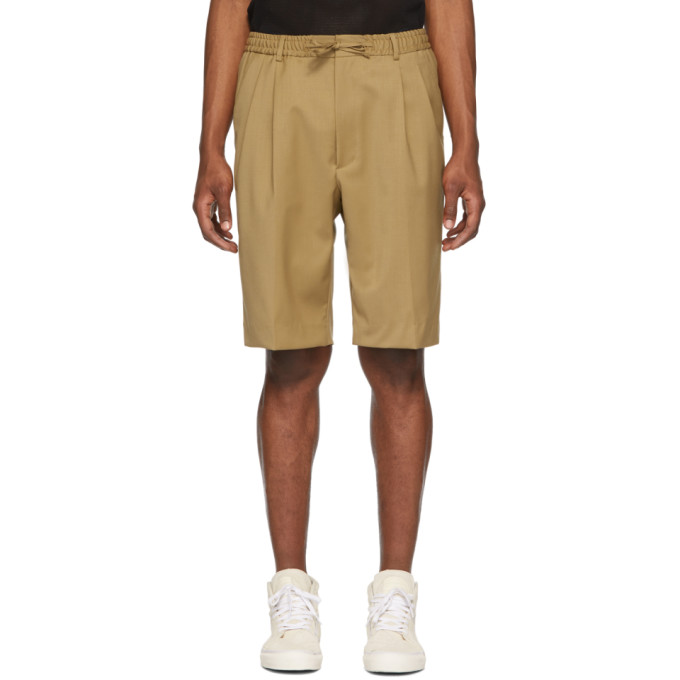CMMN SWDN Short beige Jayson Double Pleat
