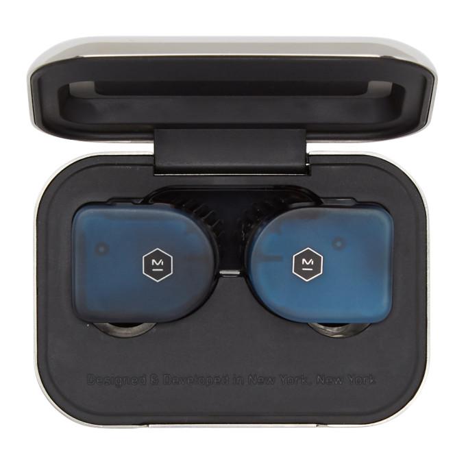 MASTER & DYNAMIC Master And Dynamic Blue Mw07 True Wireless Earphones in Steel Blue