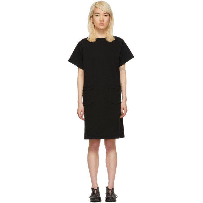 Image of Chimala Black French Terry Dress