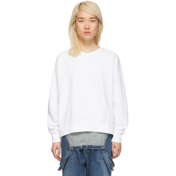 Image of Chimala White V-Neck Sweatshirt