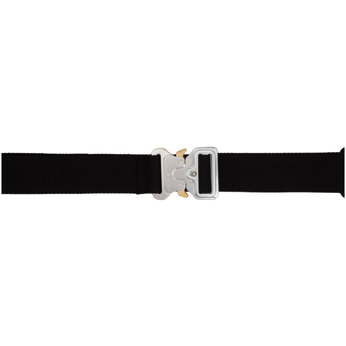 1017 ALYX 9SM Black and Silver Large Rollercoaster Belt thumbnail