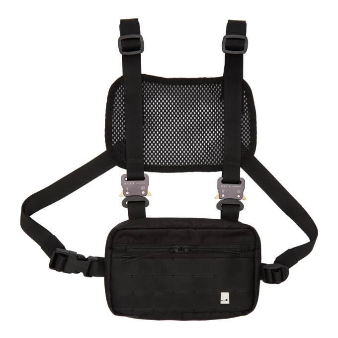 1017 ALYX 9SM Black Mini Military Chest Rig Pouch thumbnail