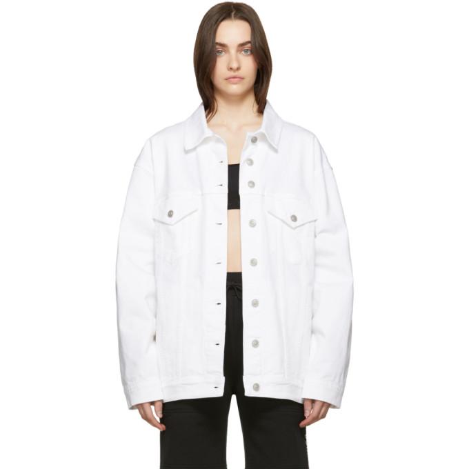 1017 ALYX 9SM White Denim Oversized Jacket 191776F06000101