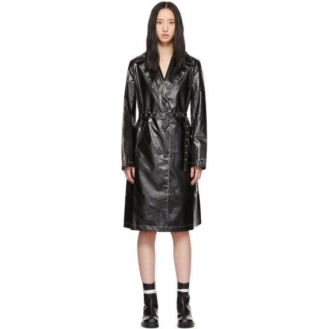 1017 ALYX 9SM Black Williams Trench Coat 191776F06700104