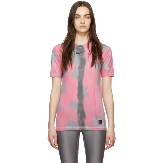 1017 ALYX 9SM Pink Nike Edition Camouflage Logo Sponge T Shirt 191776F11000105