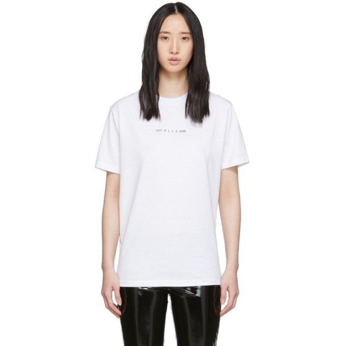 1017 ALYX 9SM White Collection Code T Shirt 191776F11000602