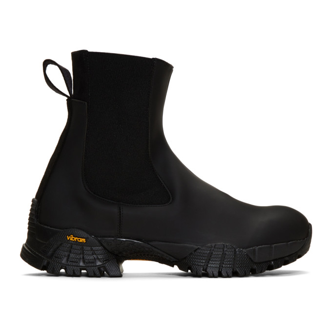 1017 ALYX 9SM Black Rubber Sole Chelsea Boots 191776F11300601