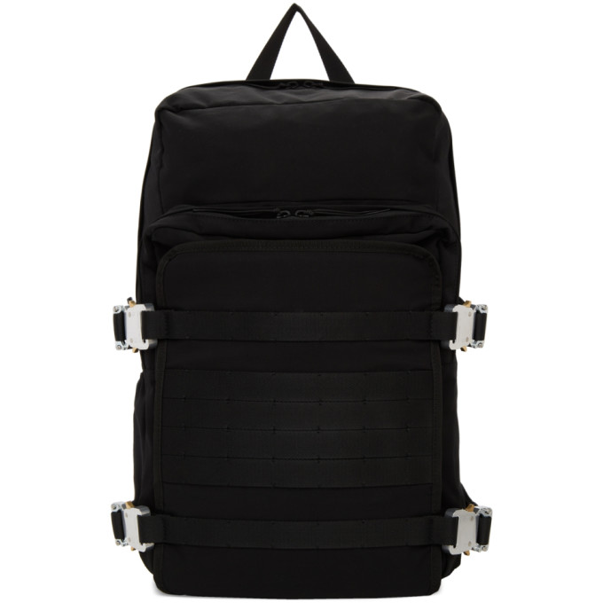 1017 ALYX 9SM Black Camping Backpack 191776M16600101