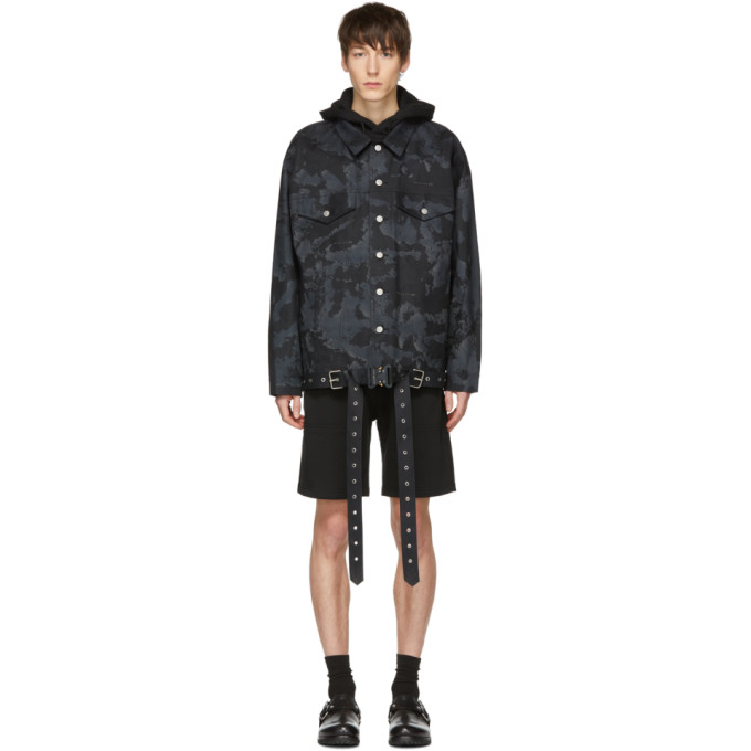 1017 ALYX 9SM Black and Grey Mackintosh Edition Oversized Jacket 191776M17700101