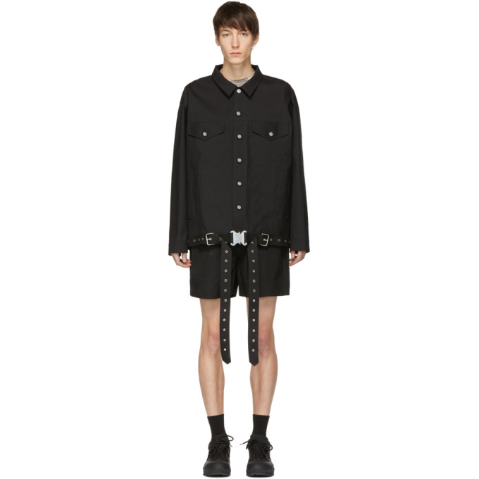 1017 ALYX 9SM Black Mackintosh Edition Oversized Jacket 191776M17700202