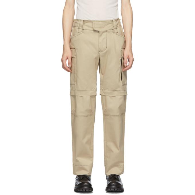 1017 ALYX 9SM Tan Zip Off Tactical Cargo Pants 191776M18800204
