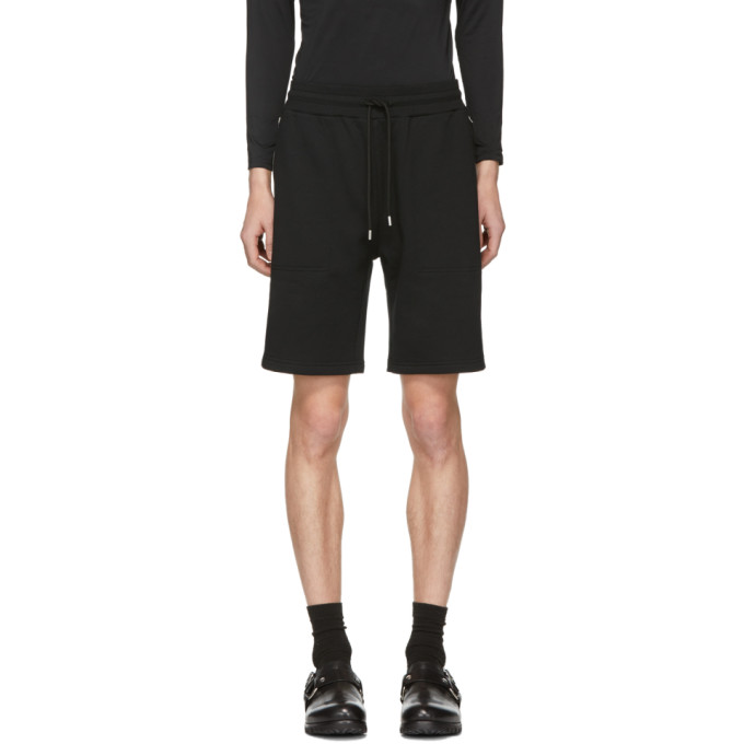 1017 ALYX 9SM Black Axel Sweat Shorts 191776M19300307