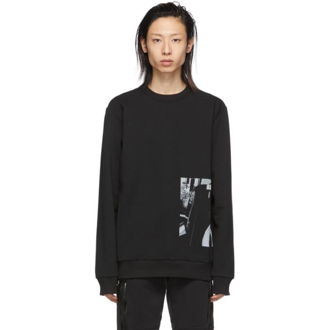 1017 ALYX 9SM Black Patriot Crewneck Sweatshirt 191776M20400104