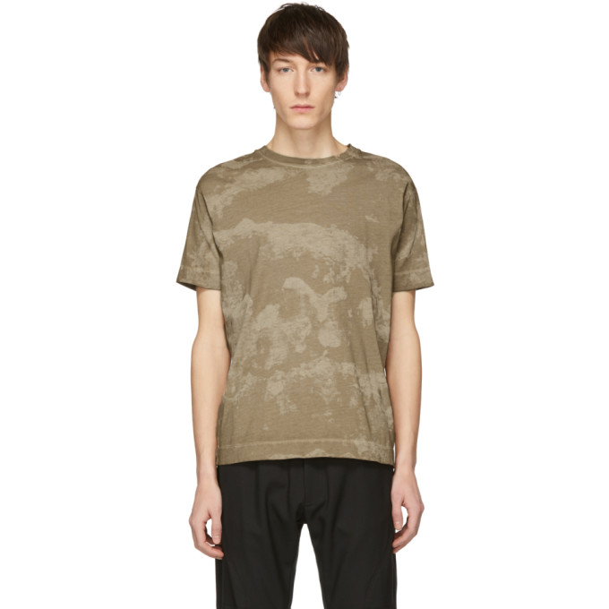 1017 ALYX 9SM Taupe Camo Collection T Shirt 191776M21300803