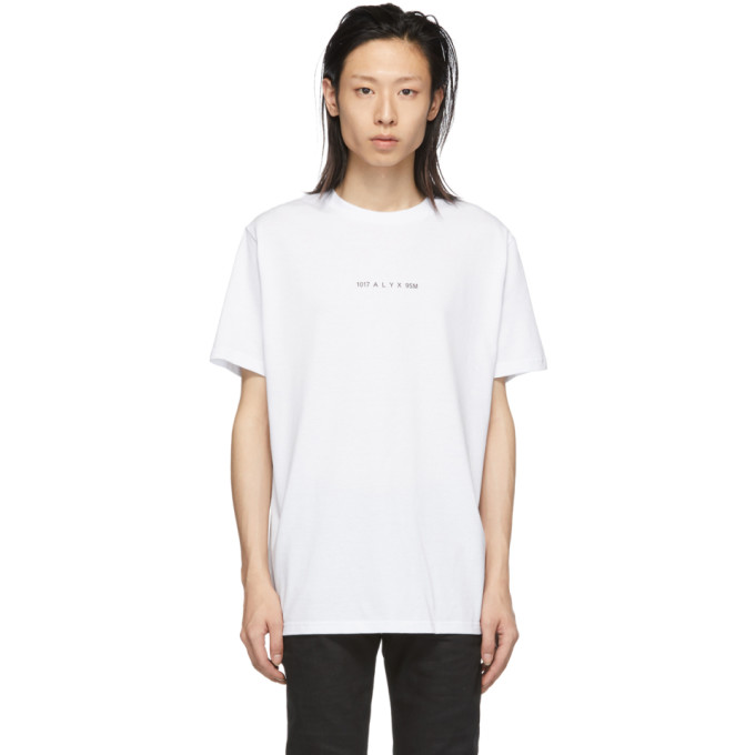 1017 ALYX 9SM White Collection Code T Shirt 191776M21301401