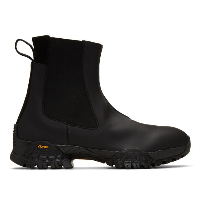 1017 ALYX 9SM Black Rubber Sole Chelsea Boots 191776M22300206