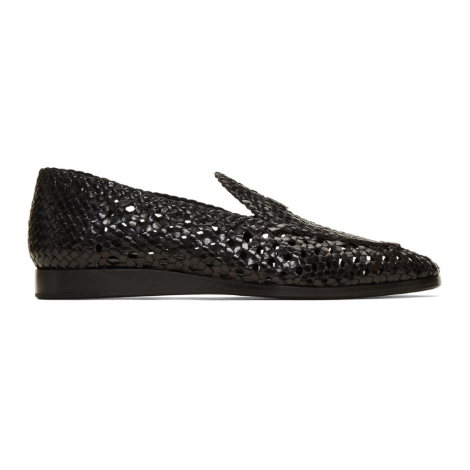 1017 ALYX 9SM Black Woven St Marks Loafers 191776M23100105