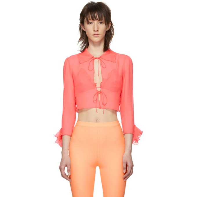 Maryam Nassir Zadeh Orange Wren Blouse