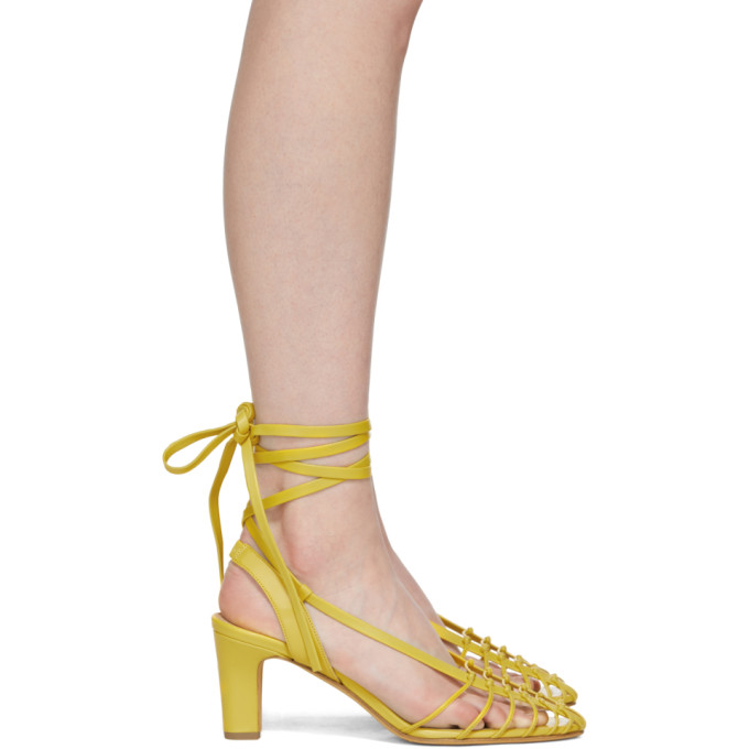 MARYAM NASSIR ZADEH Maryam Nassir Zadeh Yellow Maribel Strappy Sandals in Canary