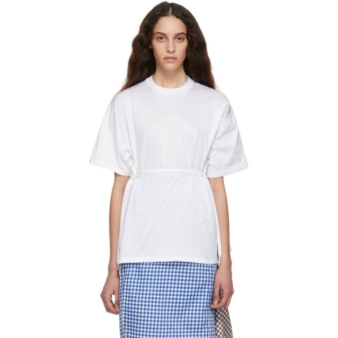 Ports 1961 T-shirt en jersey blanc