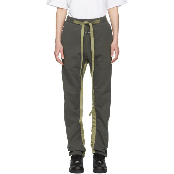 Fear of God Pantalon de survetement decontracte kaki