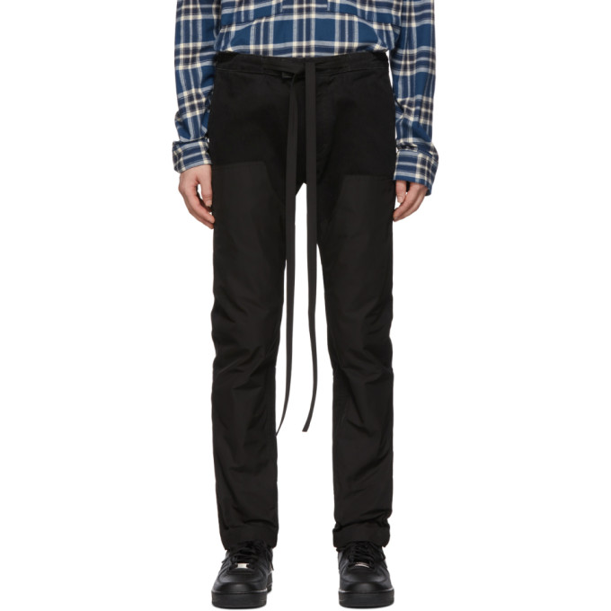 Fear of God Black Canvas Trousers