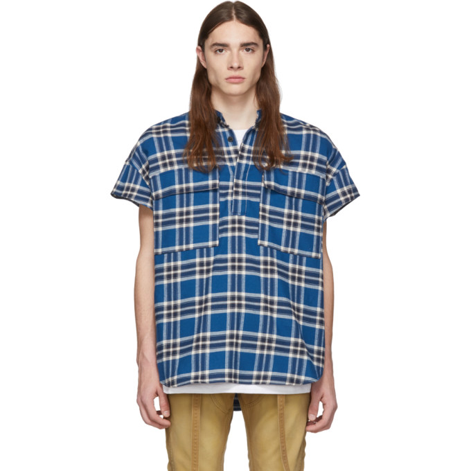 Fear of God Chemise a carreaux bleue