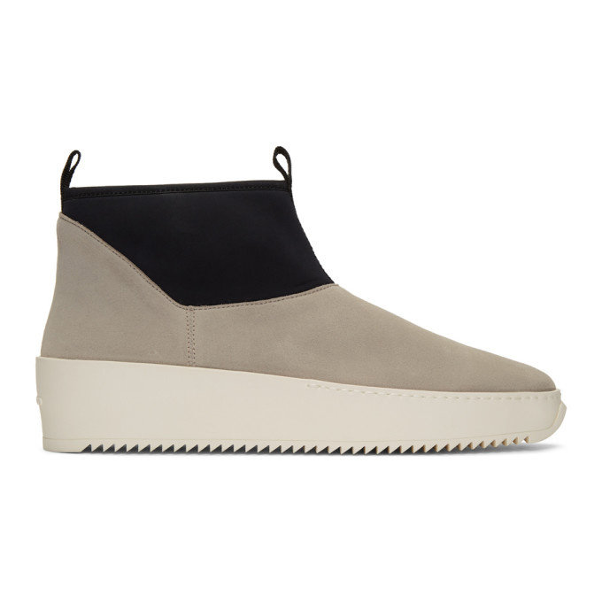 Fear of God Grey and Black Polar Wolf Chelsea Boots
