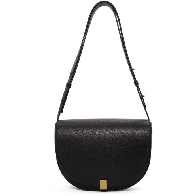 Victoria Beckham Black Half Moon Box Bag