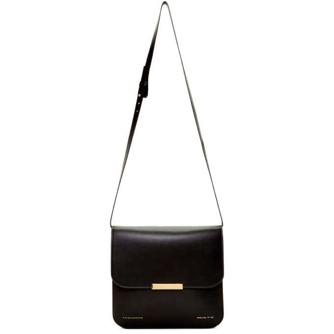 Victoria Beckham Black Flat Eva Bag