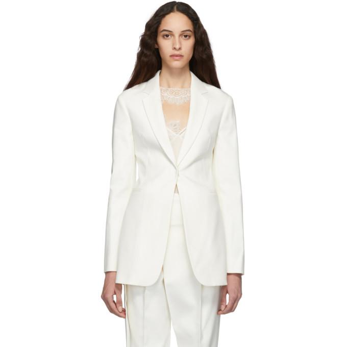 Victoria Beckham Jackets VICTORIA BECKHAM WHITE MASCULINE JACKET