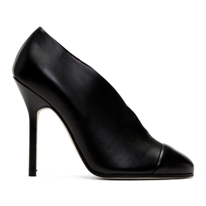 Victoria Beckham Black Refined Pin Pump Heels
