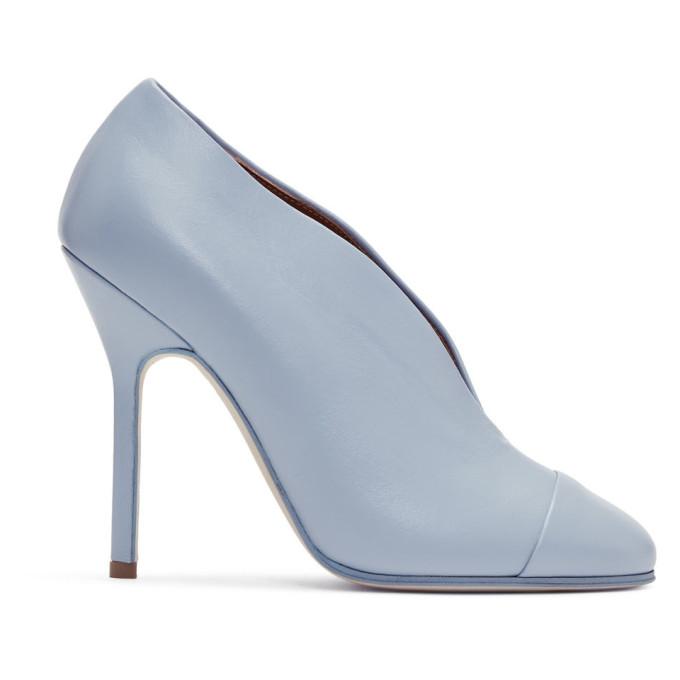 Victoria Beckham Escarpins bleus Refined Pin Pump