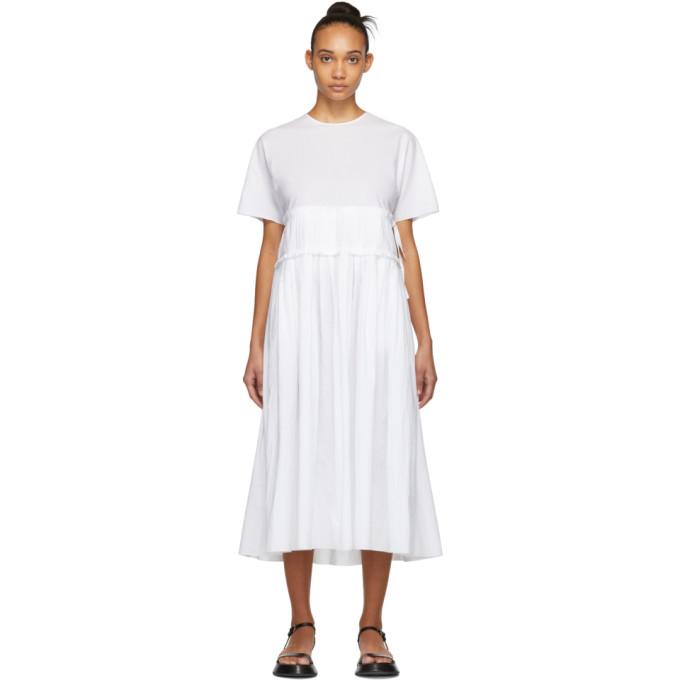 Sara Lanzi Robe a fronces blanche