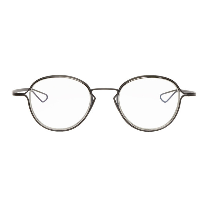 Dita Black & Silver Haliod Glasses