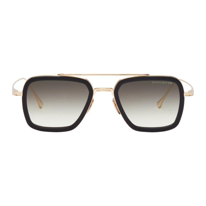 Dita Gold & Black Flight Sunglasses