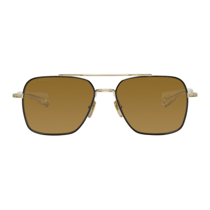 Dita Black & Gold Flight-Seven Sunglasses