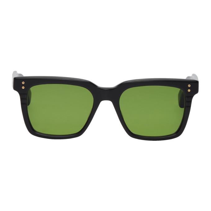 Image of Dita Black & Green Sequoia Sunglasses