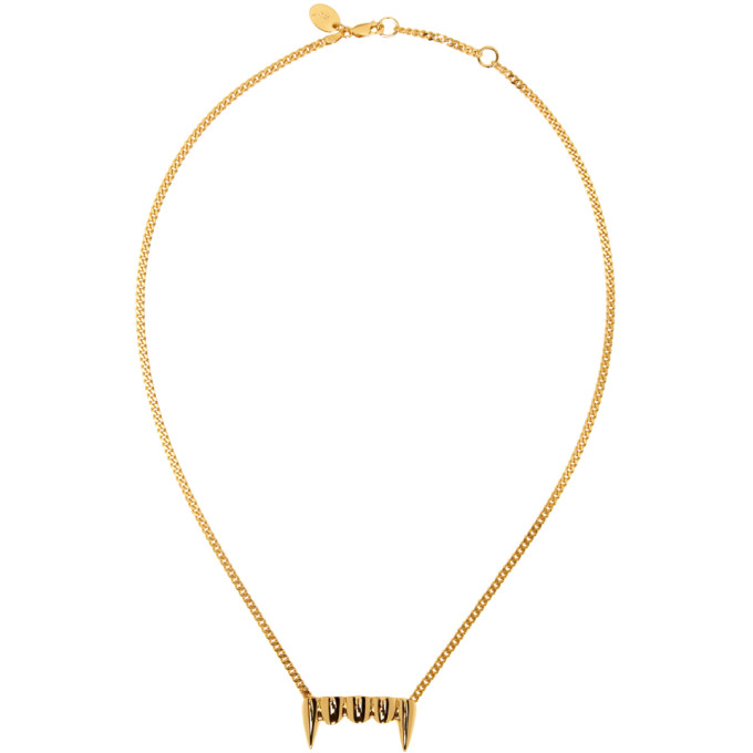 Perks and Mini Gold Original Fang Necklace