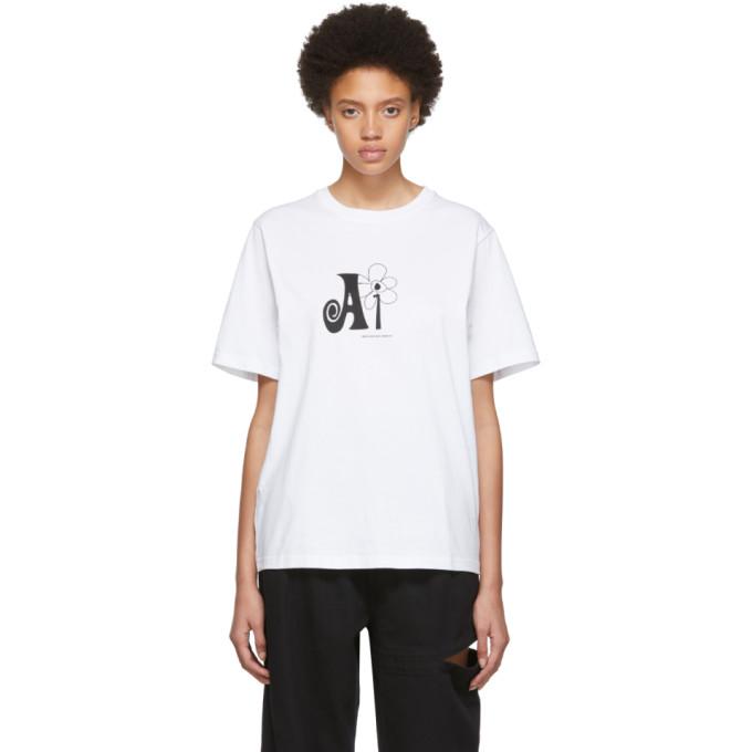 PERKS AND MINI   Perks And Mini White Natural Intelligence T-Shirt   Goxip