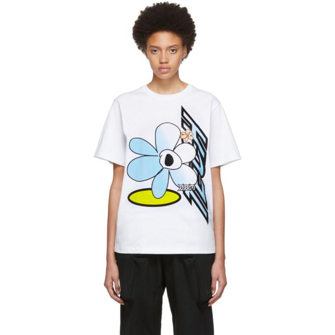 PERKS AND MINI   Perks And Mini White Tech Flower T-Shirt   Goxip