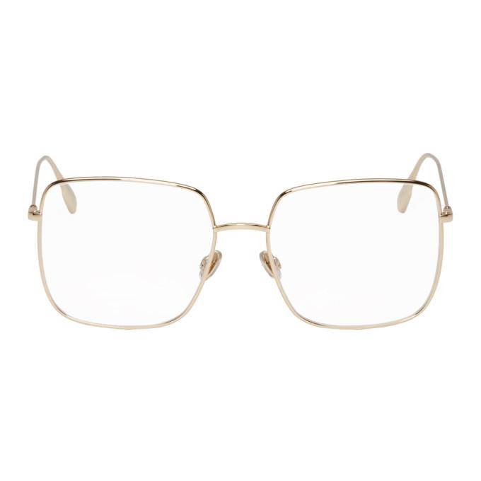 DIOR | Dior Gold DiorStellaire01 Glasses | Goxip