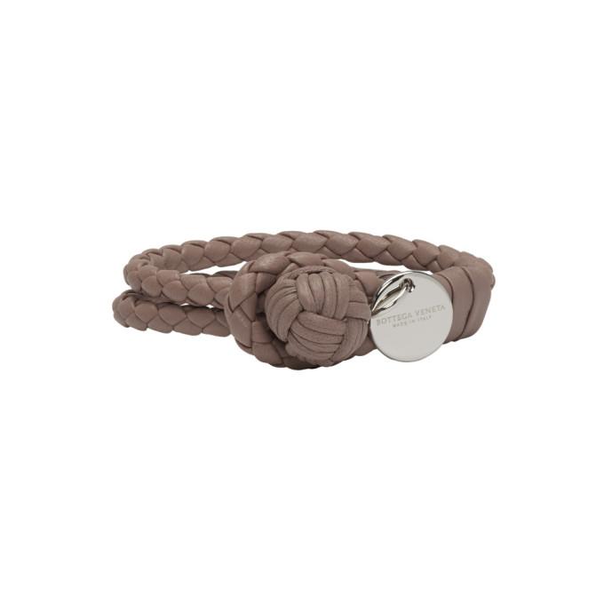 Bottega Veneta Pink Intrecciato Knot Bracelet