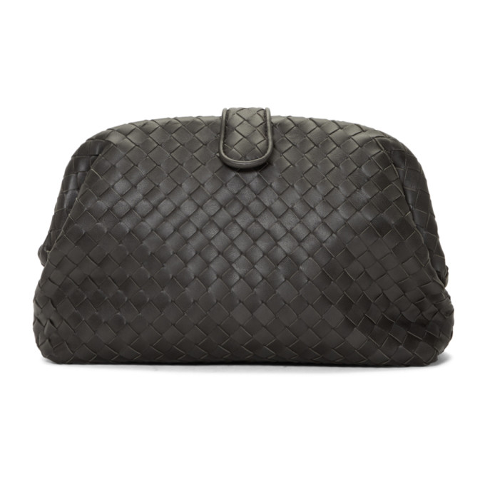 Bottega Veneta Grey Intrecciato 'The Lauren 1980' Clutch