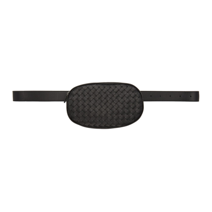BOTTEGA VENETA | Bottega Veneta Black Intrecciato Belt Bag | Goxip