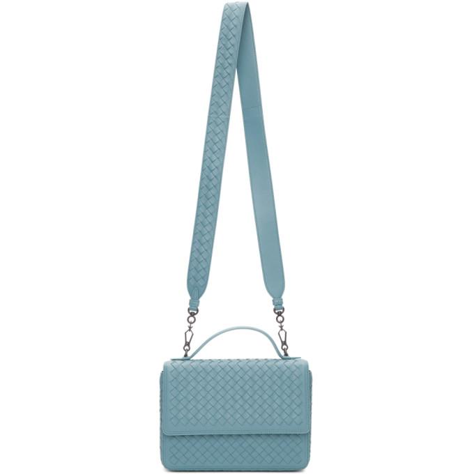 Bottega Veneta Blue Intrecciato Alumna Bag