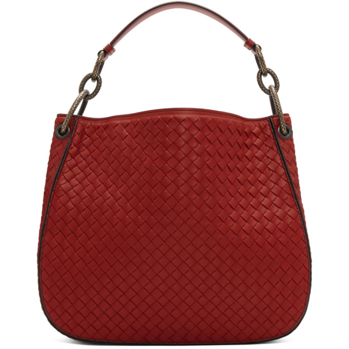 Bottega Veneta Red Medium Intrecciato Loop Bag