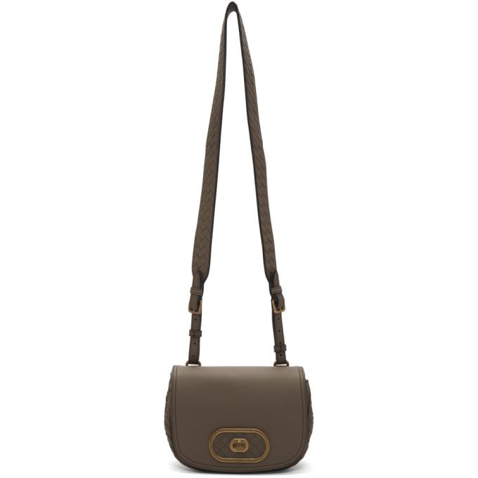 Bottega Veneta Taupe BV Luna Bag