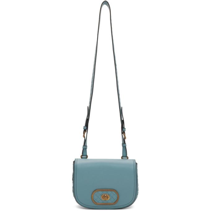 Bv Luna Leather Cross-Body Bag in 4712-Blue