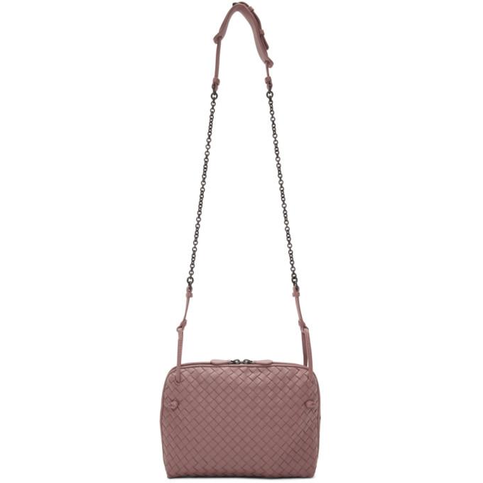 Bottega Veneta Pink Intrecciato Nodini Bag